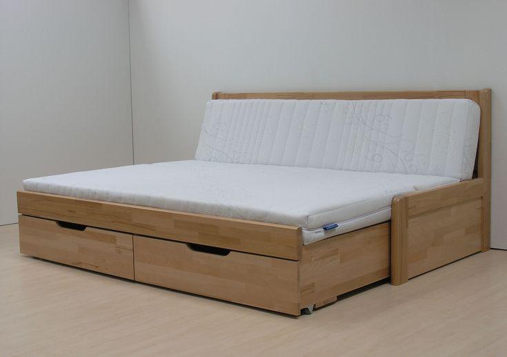drevená rozkladacia pohovka TANDEM KLASIK Tandem Klasik je unikátne rozkladacie jednolôžko s úložnými priestormi, z ktorého v rozloženom stave vytvoríte luxusné dvojlôžko.Použitý materál-