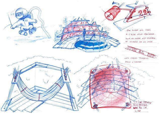Esquisses I Calendrier des 7 lunes I Design by RCP Design Global