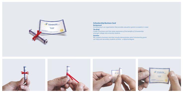 Schoolarship: Degree/Diploma business card    via Ads of the World