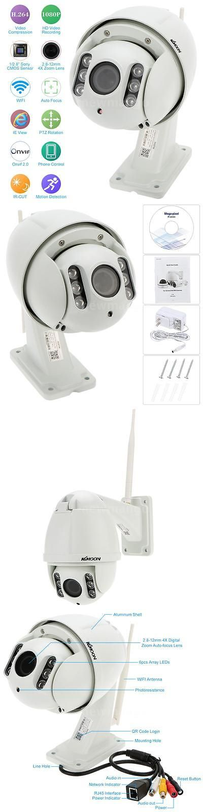 Security Cameras: Kkmoon Wireless Hd 1080P Ptz Outdoor Ir Cut Cctv Camera Wifi Ip Camera H.264 Us -> BUY IT NOW ONLY: $116.47 on eBay!