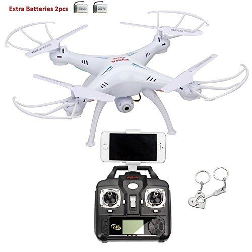 Syma X5SW 4 Channel Remote Controlled Quadcopter with HD Camera for Real Time Video Transmission, 31 x 31 x 10.5cm, White: