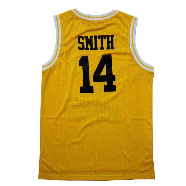Will Smith Bel Air Academy jersey from the TV show The Fresh Prince of Bel Air. The number of the jersey is 14. And the name and numbers are stitched. $29.88
