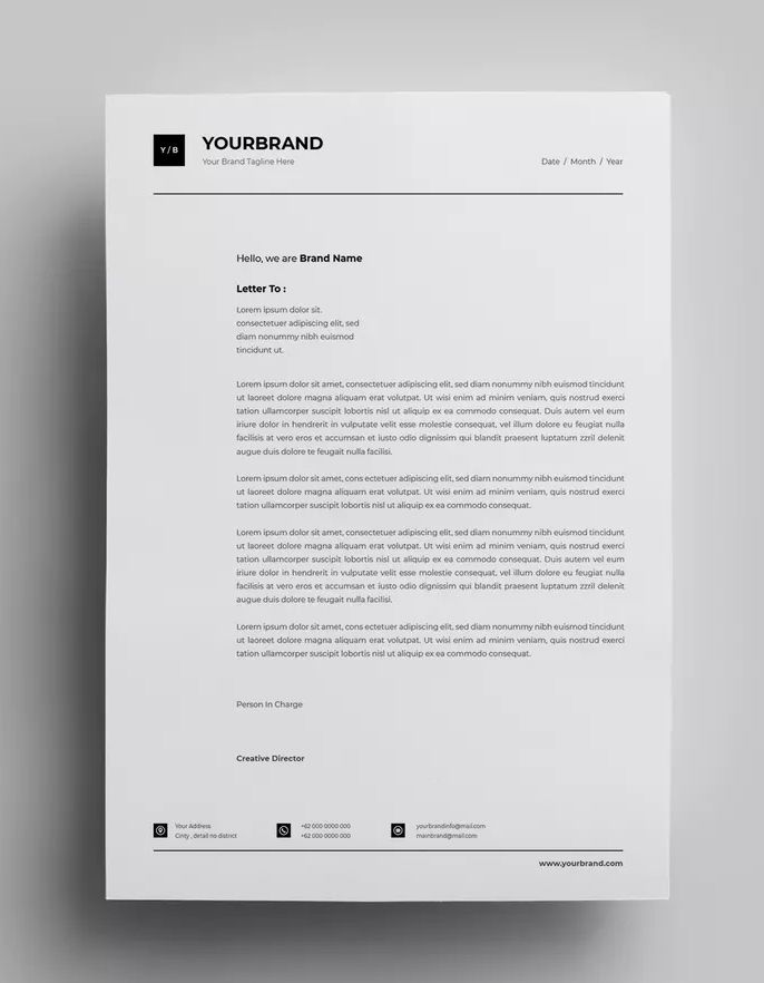 Letterhead Design Templates 18 By Surotype On Envato Elements Letterhead Design Letterhead Design Inspiration Lettering Design