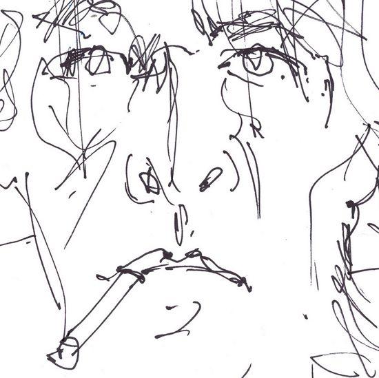 Self Portrait by Jhartho Kempink. #art #drawing #artist #black #cigarette