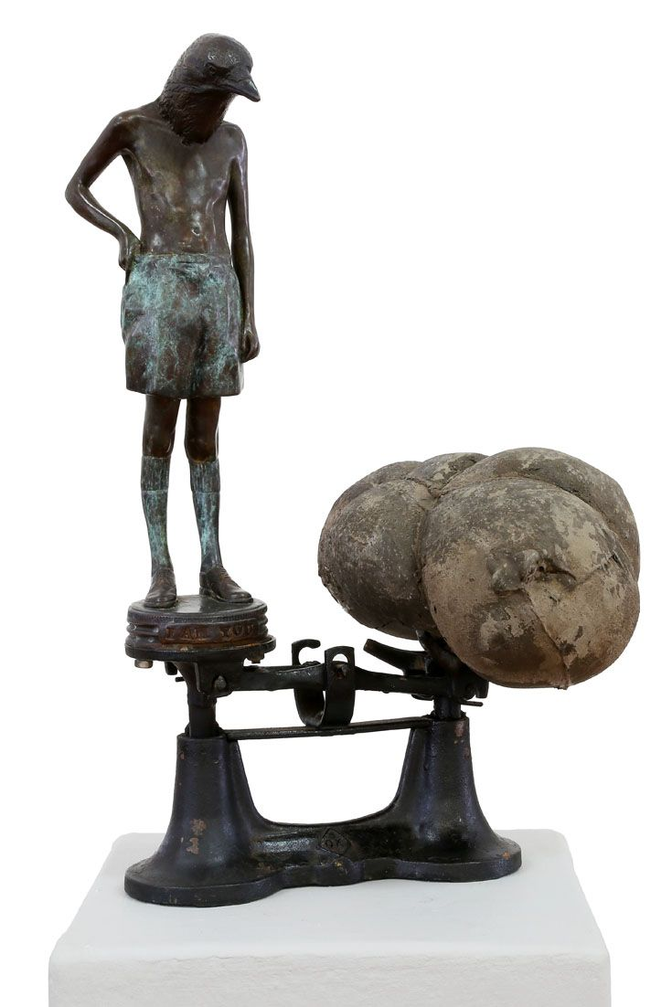 An original sculpture by Elizabeth Balcomb entitled: All that I am, bronze ed of 15, 51cm x 30cm (front) #sculpture #bronze #ElizabethBalcomb #SouthAfricanArtist #SouthAfricanArt #Therianthrope For more please visit www.finearts.co.za