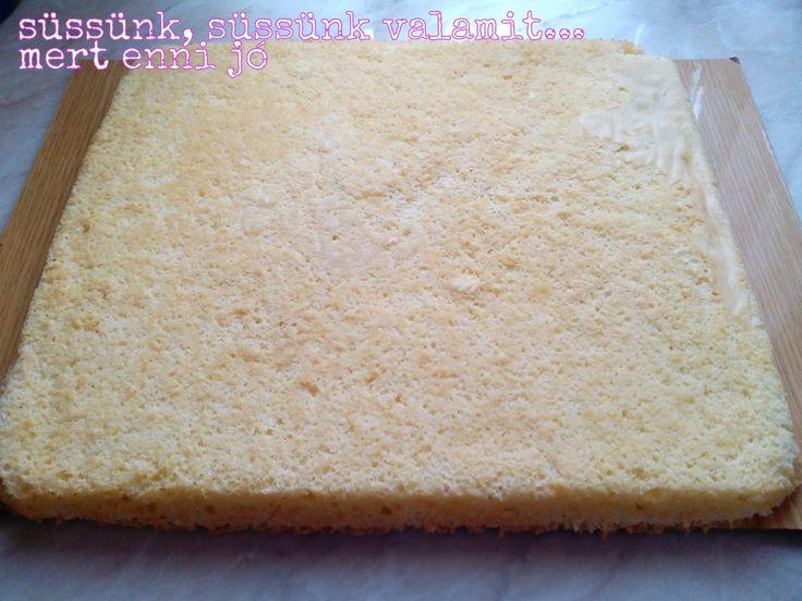 Botondka Sanyi tortáját készítettem először ezzel a fajta piskótával, aztán most most karácsonyra ismét elővettem. Úgy gondoltam, megérdeme...