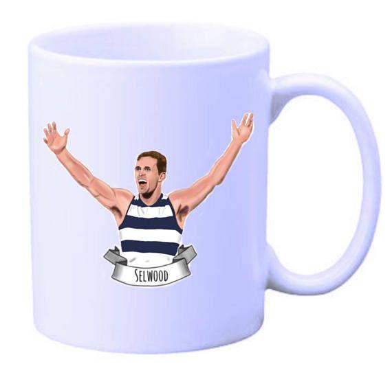 Joel Selwood Geelong Cats illustrated mug