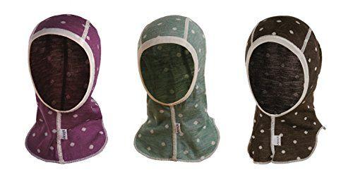 Janus 85% Merino Wool 15% Silk Baby Bonnet Hat Balaclava ...