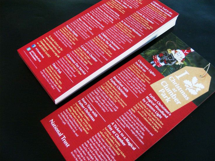Flyers printed for Clumber Park. DL size, printed 2  sides on 135gms silk paper.