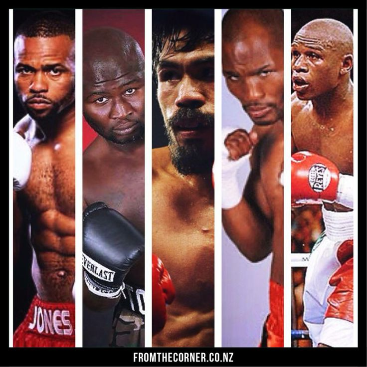 Who's the biggest boxing legend? Roy Jones Jnr, James Toney, Manny Pacquiao, Bernard Hopkins and Floyd Mayweather Jnr.