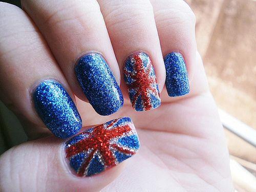 glitter union jackFashion Beautiful, Nails Art, Nailart, Unionjack, Acrylics Nails Design, Glitter Nails, British Nails, Jack O'Connel, Union Jack