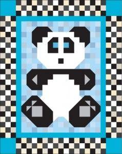 Adapt the Beary Patch pattern to make a Panda Patch.