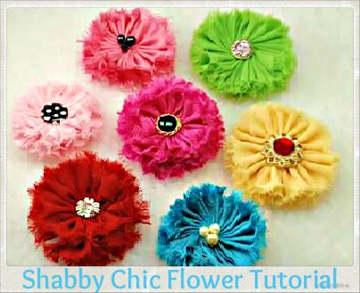 Shabby Chic Fabric Flower Handbag Embellishment Tutorial