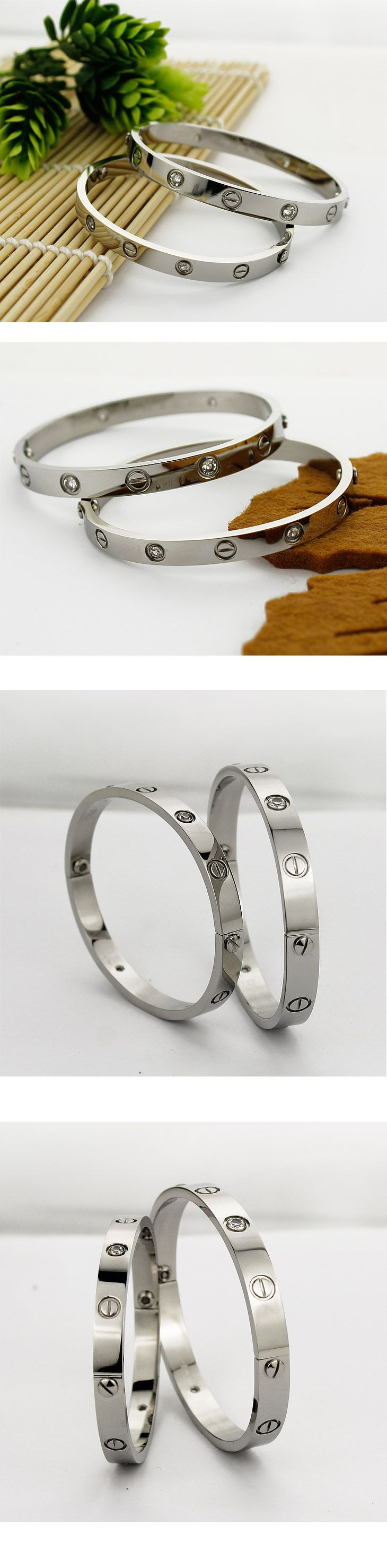 Cartier Leve Lovers Bangles White Gold Diamond Price:88.99