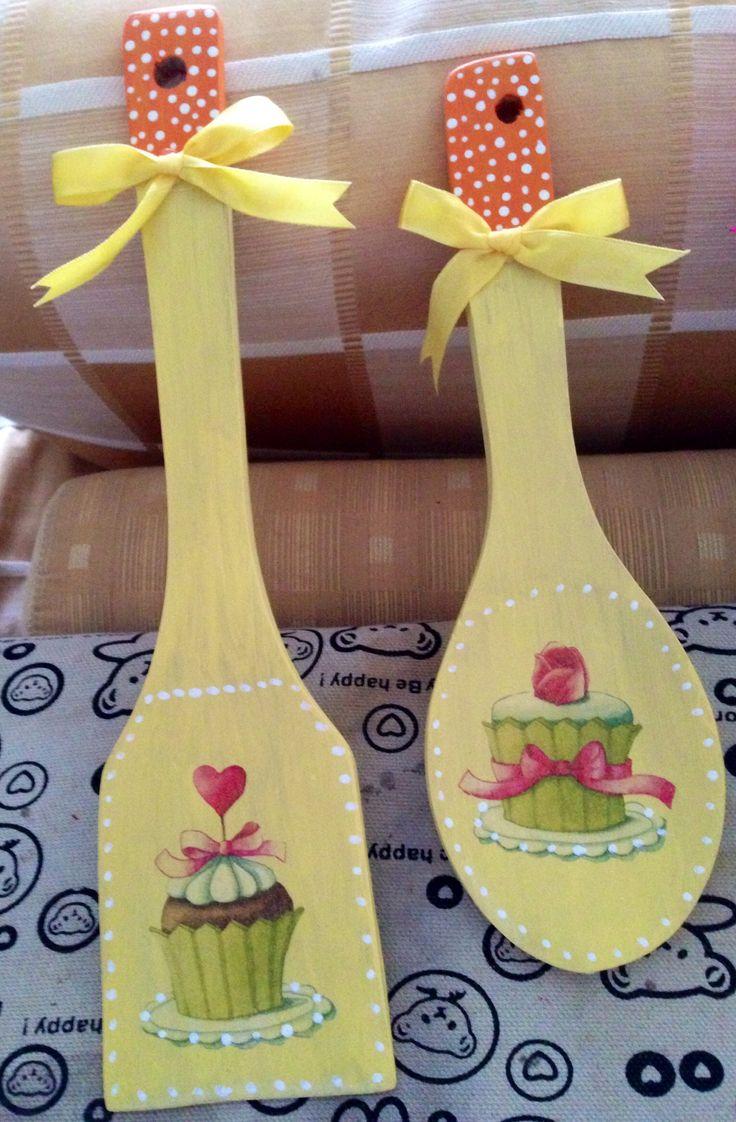 Wooden spoon n such. Decoupage