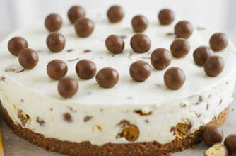 Maltesers cheesecake is really simple to make and features everyone's favourite chocolate treat - Malteasers, so what's not to love! A wickedly crunchy vanilla cheesecake which uses crushed Maltesers in the base as well as in the creamy filling. This easy cheesecake recipe perfect for parties or dessert serving 6-8 people. Lorraine Pascale's Maltesers cheesecake may take a little time to make and chill but this dessert is well worth the wait. Store this cheesecake in the fridge and eat…