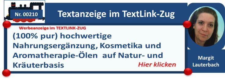 Der TextLink Zug - fortlaufende Angebote unserer Mitglieder in kurzer Textform auf 200.000 Timelines - Margit Lauterbach lädt Sie ein- jetzt anmelden und effektiv und lukrativ werben
