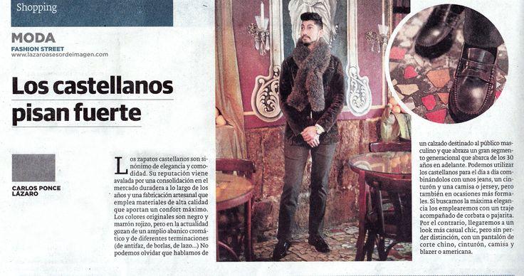 """El estilista valenciano Carlos Ponce, en su sección """"Fashion Street"""" del periódico Las Provincias, nos habla esta semana sobre los #zapatos #castellanos, llevando unos color british de Santa Gallego. ¿Te gustan?  www.santagallego.com #SantaGallego #moda #hombre #invierno #estilo #prensa #MadeInSpain"""