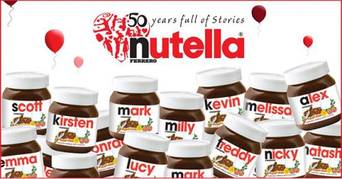 Personalised Nutella jar .Love to have one of these with Becca,Rebecca or Becky Louise on x