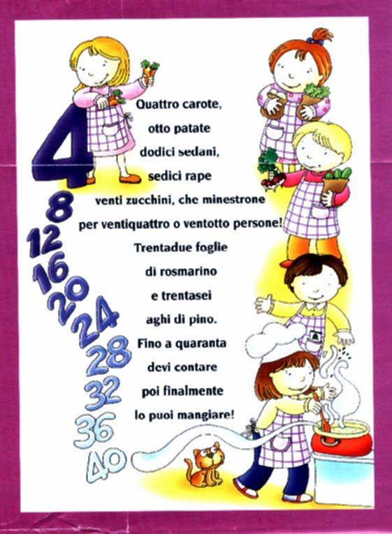 Bambini, filastrocche per Voi ... Studiate le tabelline, divertendovi!