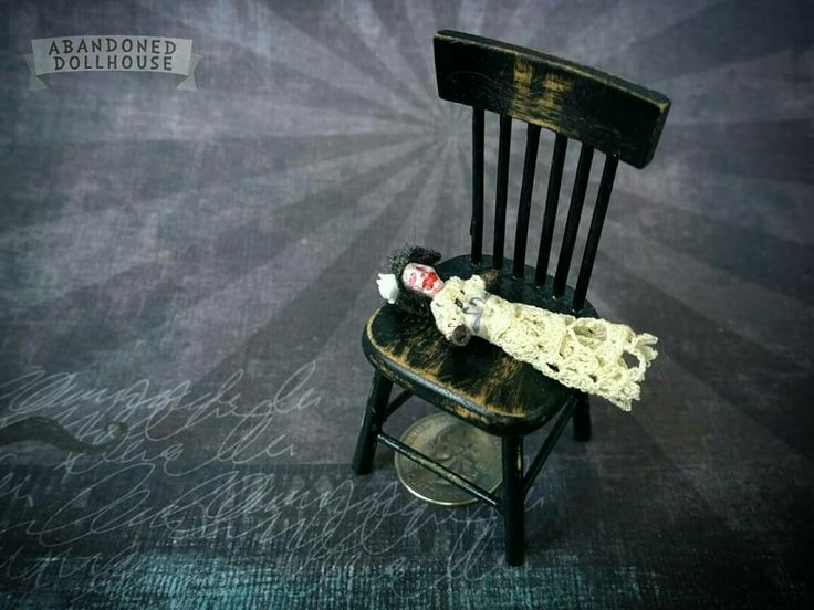 Abandoned Dollhouse creepy doll for 1:12 scale dollhouse dolls