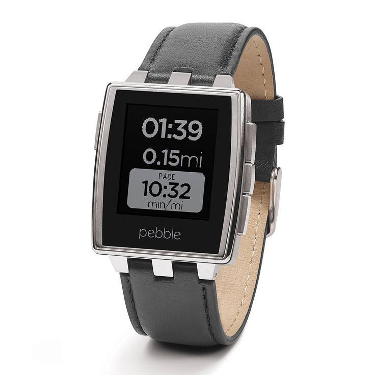 Amazon.com: Pebble Steel Smartwatch for iPhone and Android Devices - Matte Black (Certified Refurbished): Cell Phones & Accessories