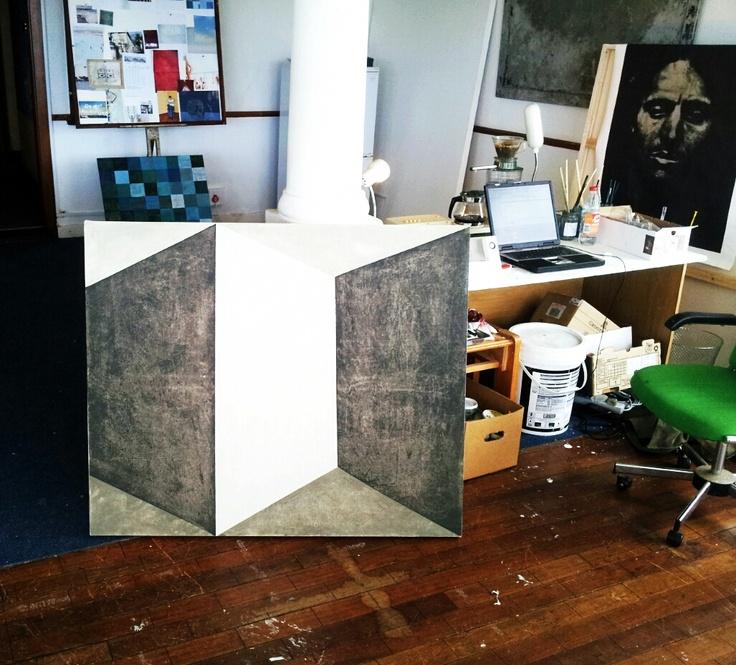 3 mure. Acrylic on canvas. 1 x 1,2m.