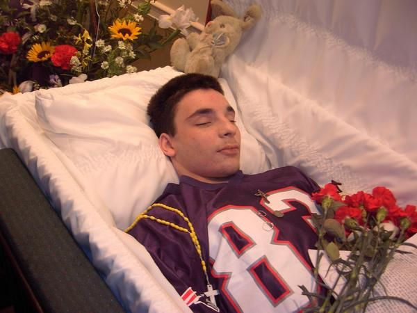 The Same Young Boy At Funeral Home The Dead Pinterest