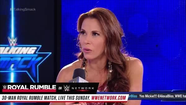 """""""To make you feel like everything you did meant nothing... it's disgusting."""" Mickie James weighs in on The Divas Revolution on Talking Smack on WWE Network."""