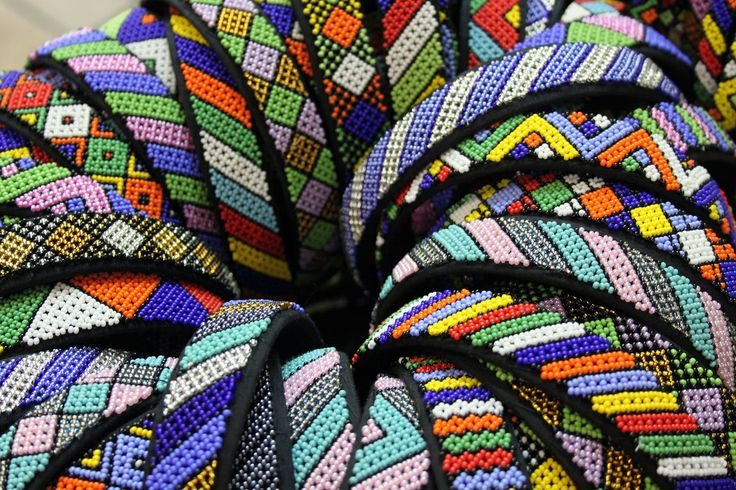 Colourful Zulu bracelets, Durban
