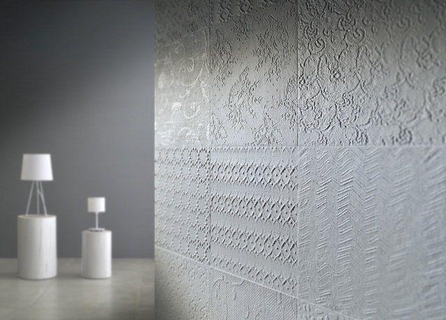 carrelage originale de salle de bain en motifs floraux
