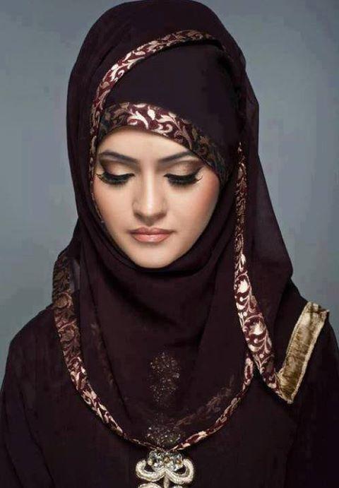 Beautiful Hijab for Girls, Arabian Hijab Style for Girls 2013  Read more: http://indianramp.com#ixzz2cOBXa0E4