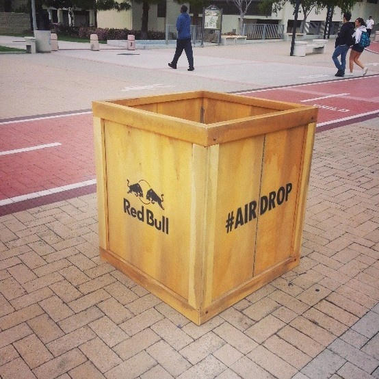 RedBull airdropped this on SDSU campus! #freedrinks #fun #redbull #sdsu #alisdsu