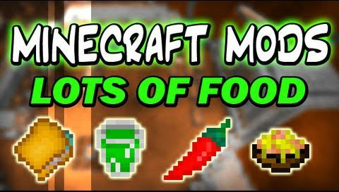 "Lots of Food Mod 1.10.2/1.9.4/1.7.10 - minecraft mods 1.10.2 : It's a mod which adds more and more food, its french name is ""Plus d'aliments"".  ...   