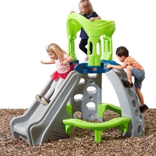 Kids Castle Top Mountain Climber Backyard Toy Play Center Garden Slide Climb Set #Step2