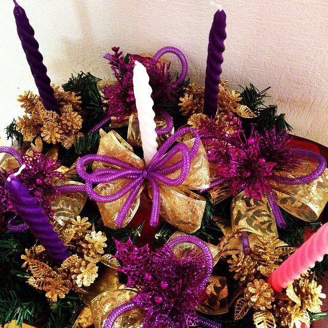 1000 im genes sobre religion en pinterest navidad - Como decorar la corona de adviento ...
