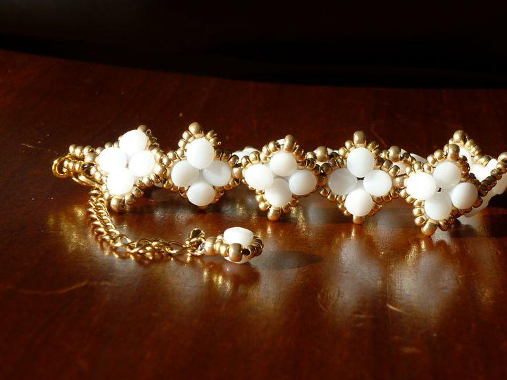 Bracelet blanc / doré