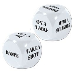 21st Bday Dice. Tempting. But honestly, we'd have to make our own. Which would be so cool
