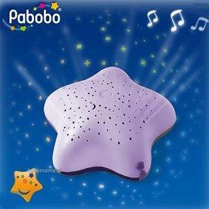 Pabobo LED Natlampe Stjernehimmel, Lilla