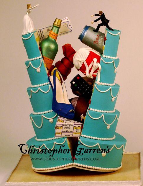 crazy wedding cake