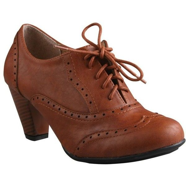 8363bfc79c22e REFRESH AMANY-01 Women's Cuban heel Ankle booties Oxfords ($27 ...