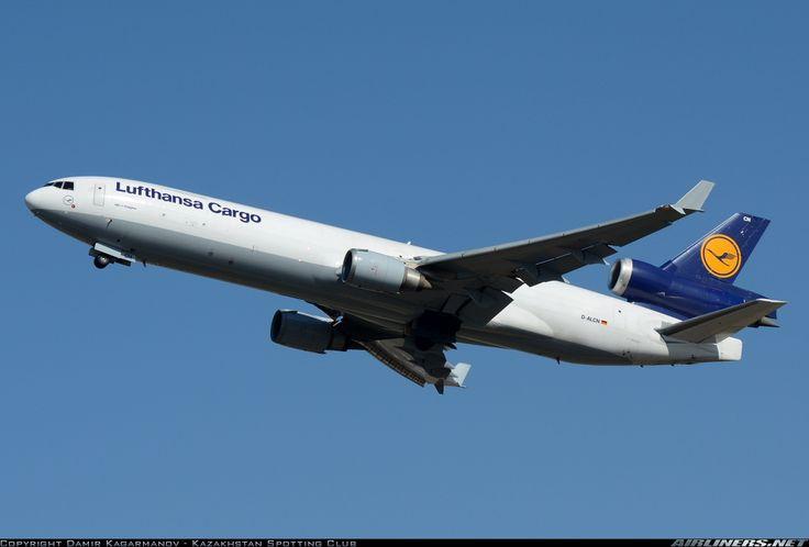 McDonnell Douglas MD-11F, Lufthansa Cargo, D-ALCN, cn 48806/646, cargo, first flight 14.9.2000, Lufthansa Cargo delivered 25.1.2001. His last flight 13.5.2016 Chicago - Frankfurt. Foto: Almaty, Kazakhstan, 24.9.2015.