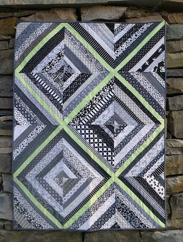 Black and white string quilt | Finally finished up the black… | Flickr