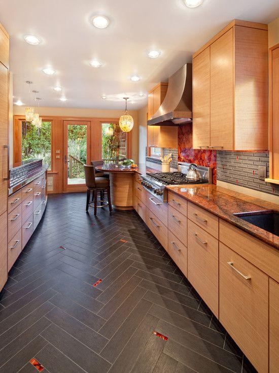 Herringbone Tile Design Modern Kitchen By Giulietti Schouten Architects Flooring