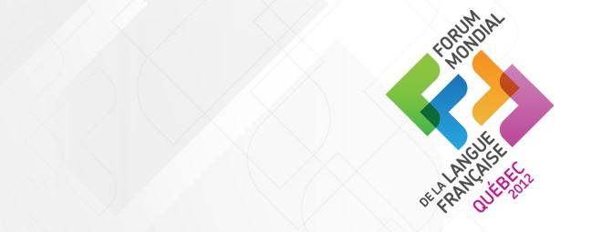 Du 2 au 6 juillet 2012, la Ville de Québec était au diapason du Forum mondial de la langue française. Les Dompteurs de souris ont été appelés en renfort pour produire les visuels relatifs au pavoisement, aux publicités journal et radio de même que pour la conception et la production de divers outils de communication.