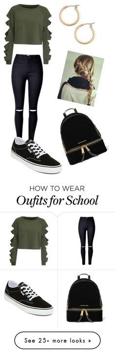 """School"" by gisselleotero on Polyvore featuring WithChic, Vans, Nordstrom and MI…"
