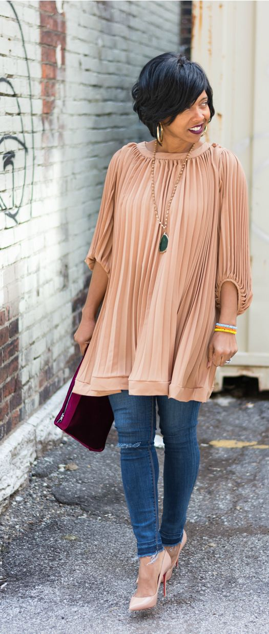 Pleated Dress, Pleated top, Express Jeans, Indianapolis Style Blog, Indianapolis Fashion Bog