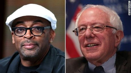 "Director SPIKE LEE ENDORSED Democratic presidential candidate BERNIE SANDERS in an ad telling South Carolina voters to ""Wake up!"""