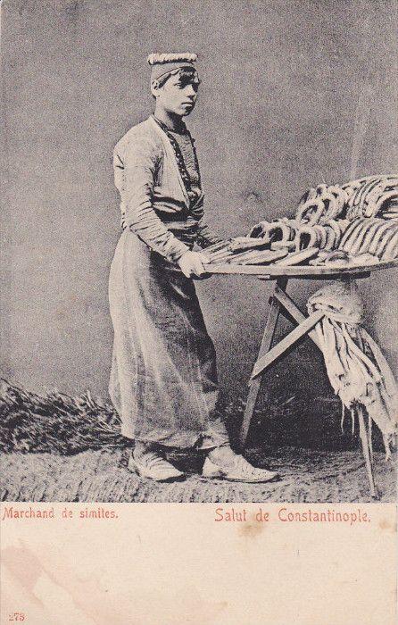 SÍMÍTÇÍ (simit seller). Istanbul, 1900.