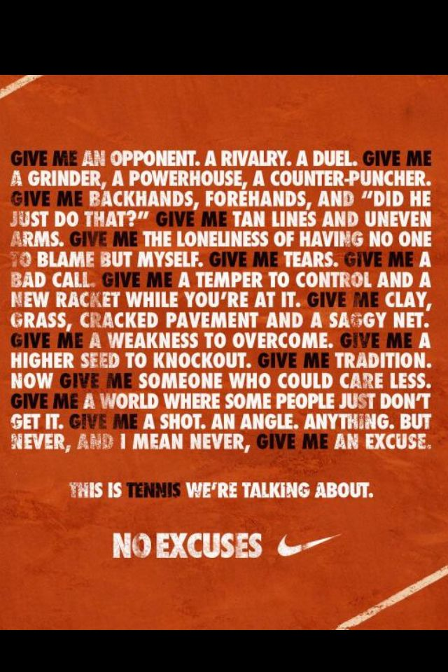 This is seriously the best description of tennis ever. It's the most frustrating, yet rewarding sport ever. <3 it.